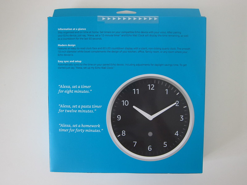Amazon Echo Wall Clock -  Box Back