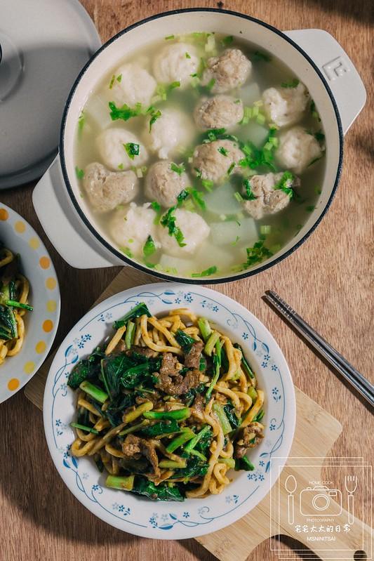 宅宅太太的日常,沙茶牛肉炒麵,食譜料理 @陳小可的吃喝玩樂