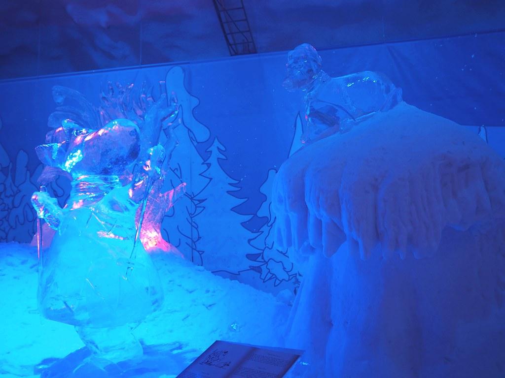 moomin icesculptures leppävirta