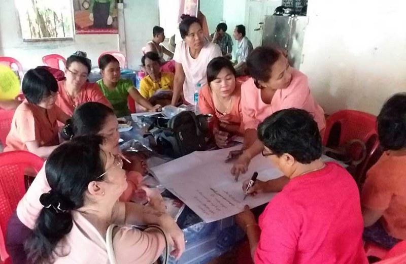 Leadership in politics training in Maubin
