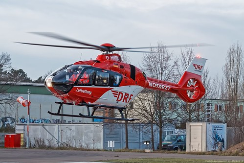 DRF Luftrettung (Christoph38) / Airbus Helicopters H135 T3 / D-HRTD / @ Döbeln 29th November 2018