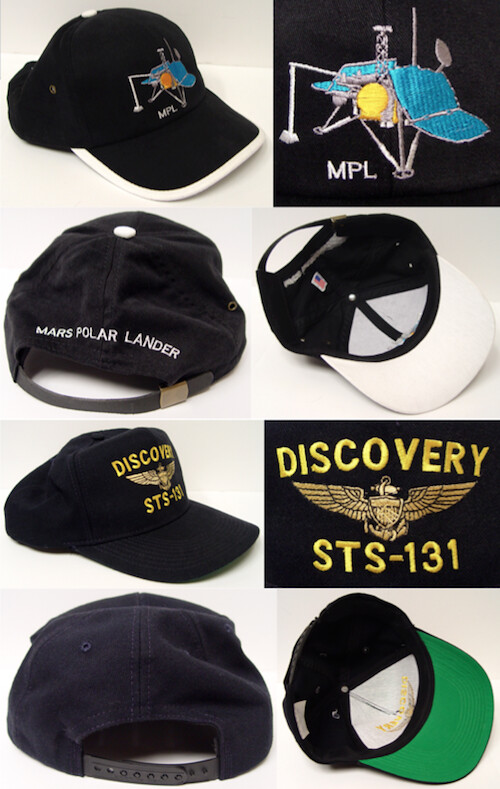 316f0ad7e441b Space Shuttle Discovery STS-131 mission crew cap with Navy astronaut wings.  Fully stitched with a rear size adjustment of plastic snaps. PRICE   15.00.
