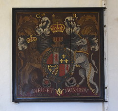 Stuart arms relettered for George II