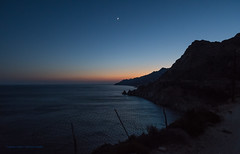 Ikaria/Ικαρία - Moon and Venus over Karkinagri/South Coast