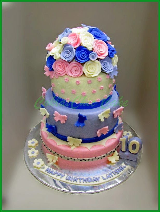 Cake Flowers LATISHA 18/15/12