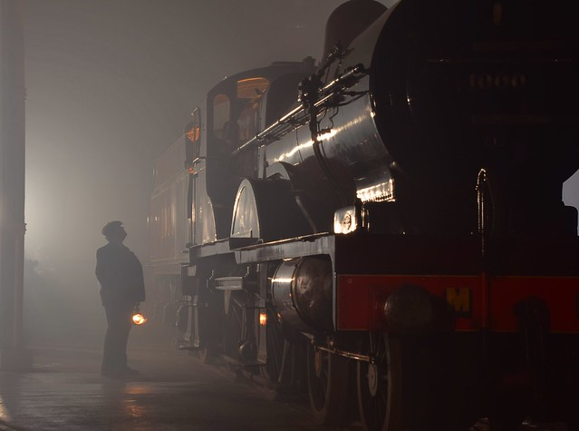 Midland Railway Johnson 4-4-0 Compound No.1000 of 1902 in the foggy gloom of Barrow Hill Roundhouse 07 11 2018 Timeline Events