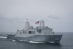 USS Somerset (LPD 25) file photo. (U.S. Marine Corps/Sgt. Allison Bak)