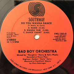 BAD BOY ORCHESTRA:DO YOU WANNA DANCE(LABEL SIDE-B)