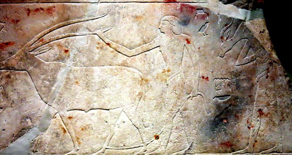 Bajorelieve egipcio, MAN (Museo Arqueológico Nacional), al mercado,
