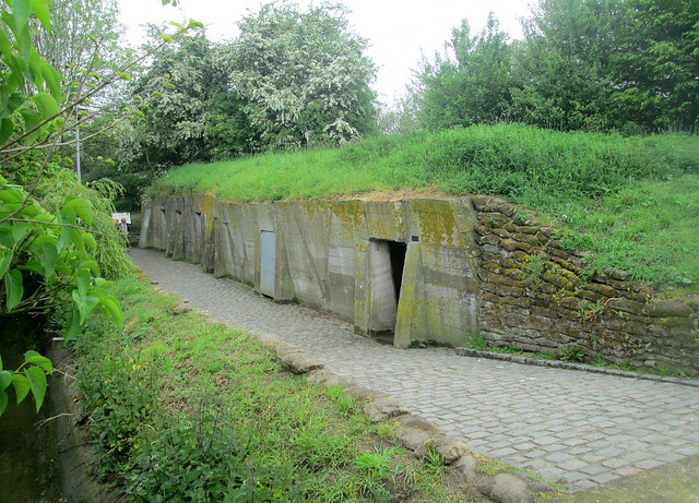 Bunkers at  Essex Farm Cemetery, Ypres