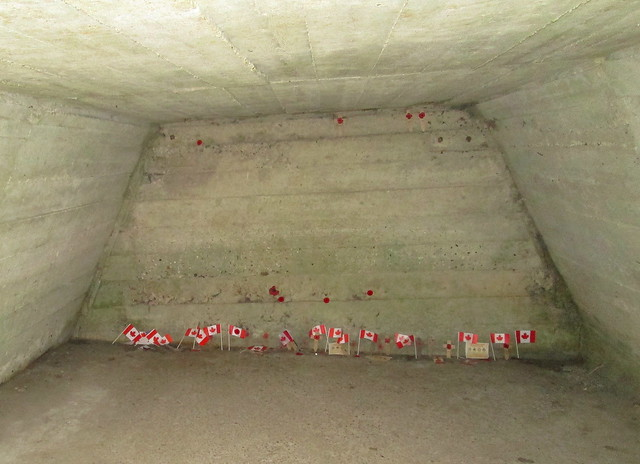Interior of Bunker at Essex Farm Cemetery, Ypres