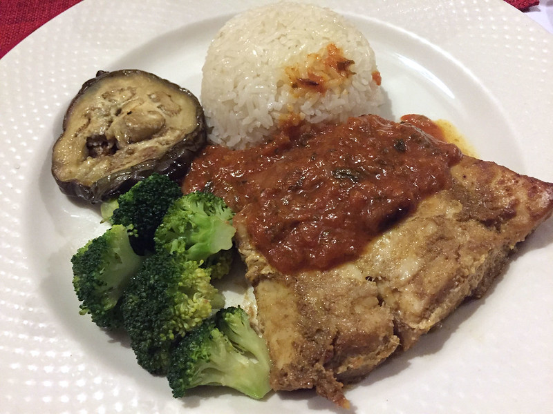 Swahili fish and coconut rice