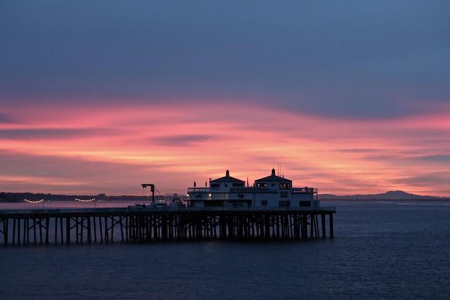 malibu pier at dawn