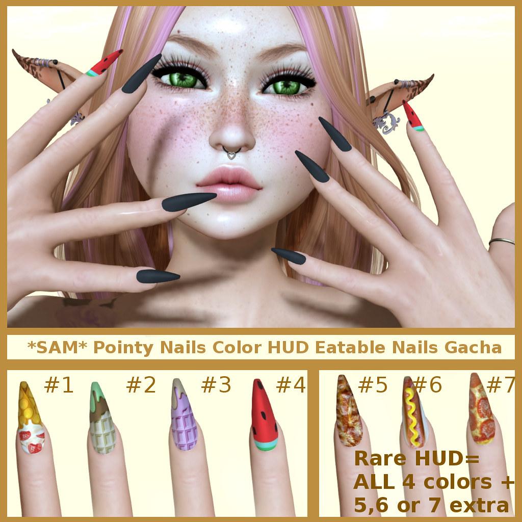 *SAM* Eatable Nails HUD 35l Gacha