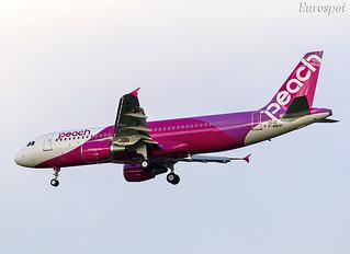 F-WWDP Airbus A320 Peach