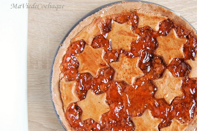 tarte de Linz sans gluten aux coings