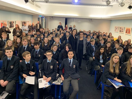 Zahava Kohn and Hephzibah Rudofsky with pupils from Edgbarrow School. November 2018 | by Surviving The Holocaust