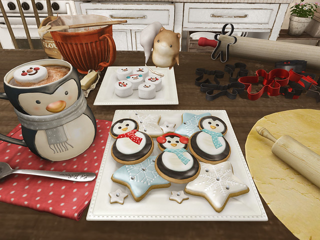 Penguin Cookies and Cocoa