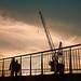 harlingen-haven-bij-zonsondergang