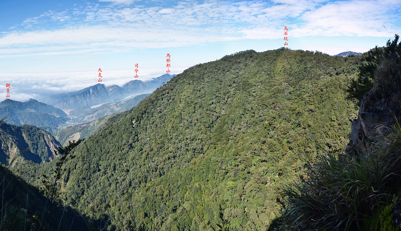 船型山林道3.9K西北望馬克連稜、烏石坑山 1-1