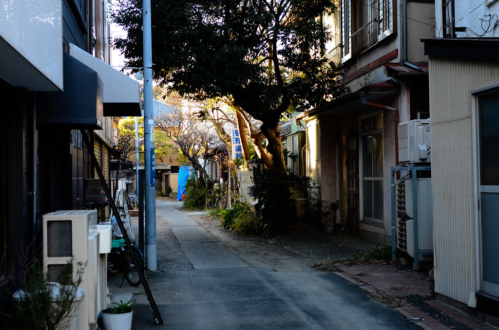 Backstreet of Onari shotengai shopping street, Kamakura