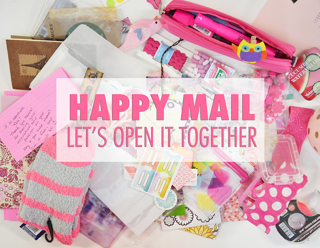 Video: Opening pink happy mail from a blog fan