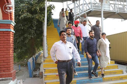 Satguru Mata Ji visits in Railway Station Bhodwalmajri
