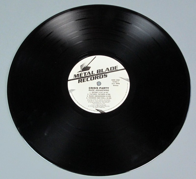 "CRISIS PARTY Rude Awakening 12"" LP VINYL"