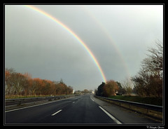 Arc en ciel sur la RN 13 - Photo of Saint-Germain-du-Pert