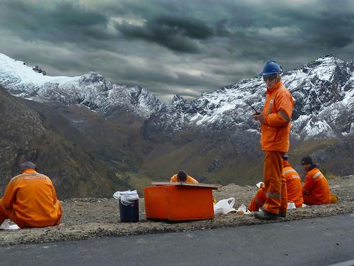 Cordillera Blanca at 5,000 meters altitude