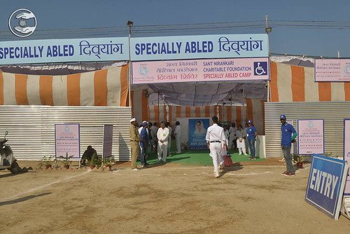 A view of Specially Abled Camp