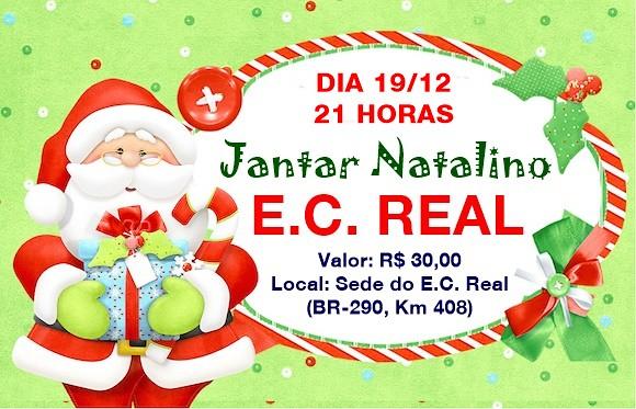 Vem aí a Festa de Natal do EC Real, em 19 de dezembro