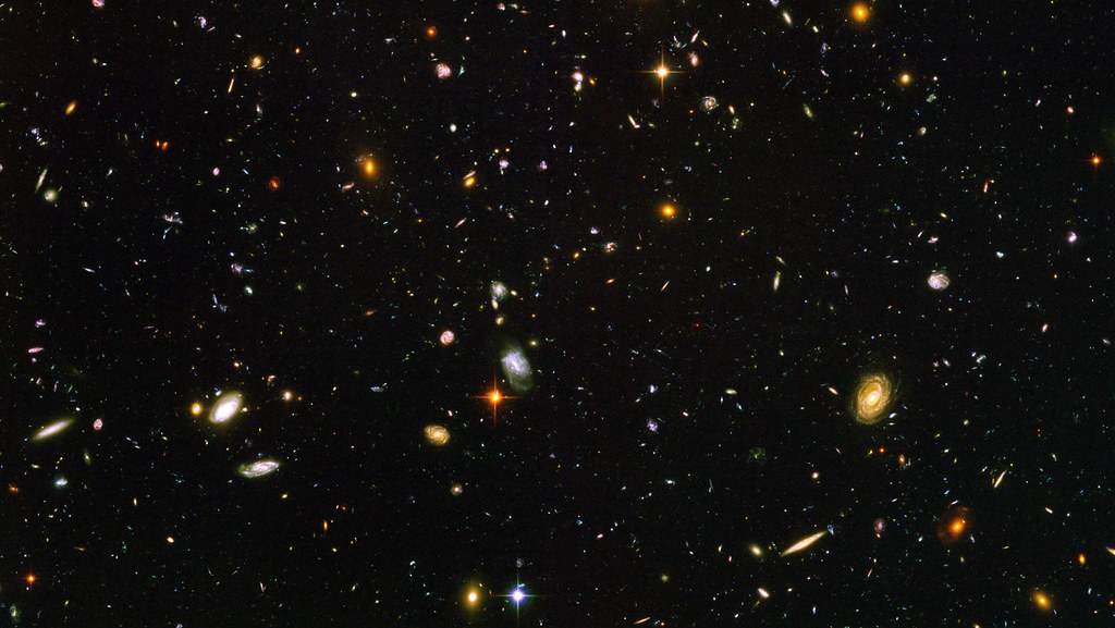 Section of the Hubble Ultra Deep Field snapshot showing thousands of galaxies with various ages, sizes, shapes, and colours. Credit: NASA, ESA, and S. Beckwith (STScI) and the HUDF Team.
