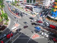 Gridlock In Downtown Kota Kinabalu
