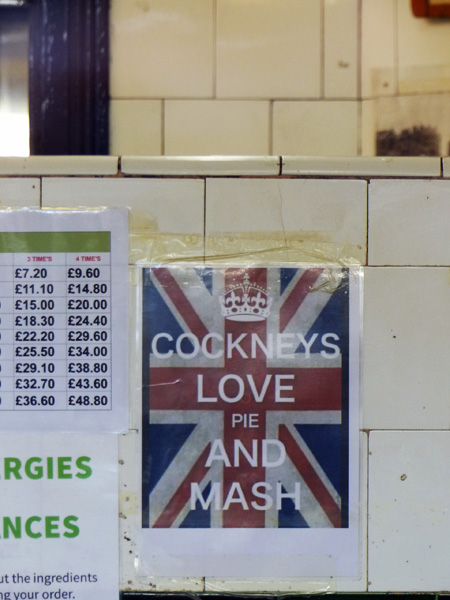cockneys love pie and mash