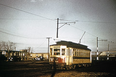 US NY NYC - Third Avenue Railway System 65 (Rt V:Williamsbridge) (Soundview & Clasons Point)-(116673) - Whitestone Bridge in distance