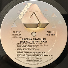 ARETHA FRANKLIN:LOVE ALL THE HURT AWAY(LABEL SIDE-A)