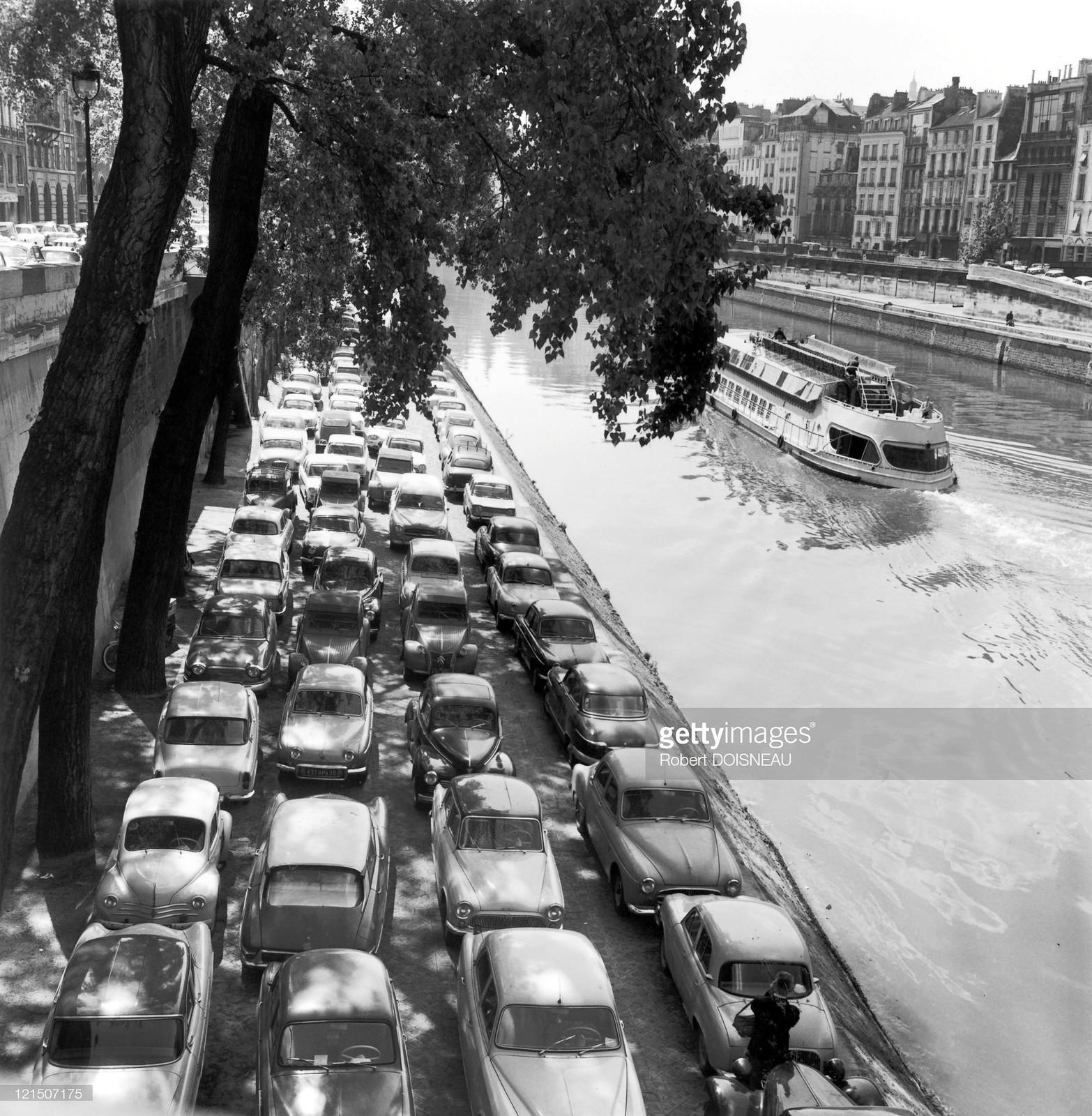 1964. Движение на набережной Орфевр в Париже