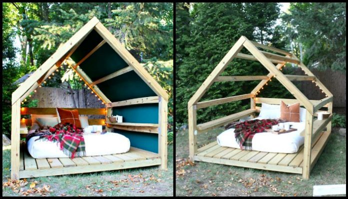 Unwind In Your Backyard With A Cozy DIY Outdoor Cabana Lounge