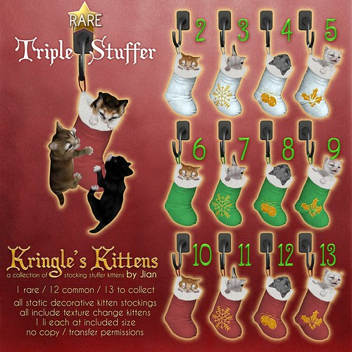 JIAN Kringle's Kittens (The Epiphany Dec '18)