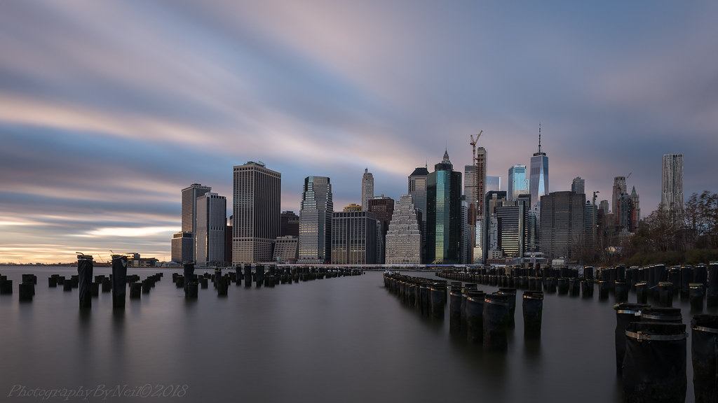 Manhattan Sunset Skyline