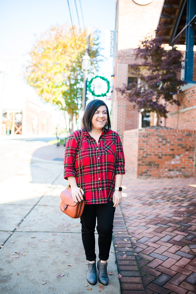 Holiday Plaid Top-@headtotoechic-Head to Toe Chic