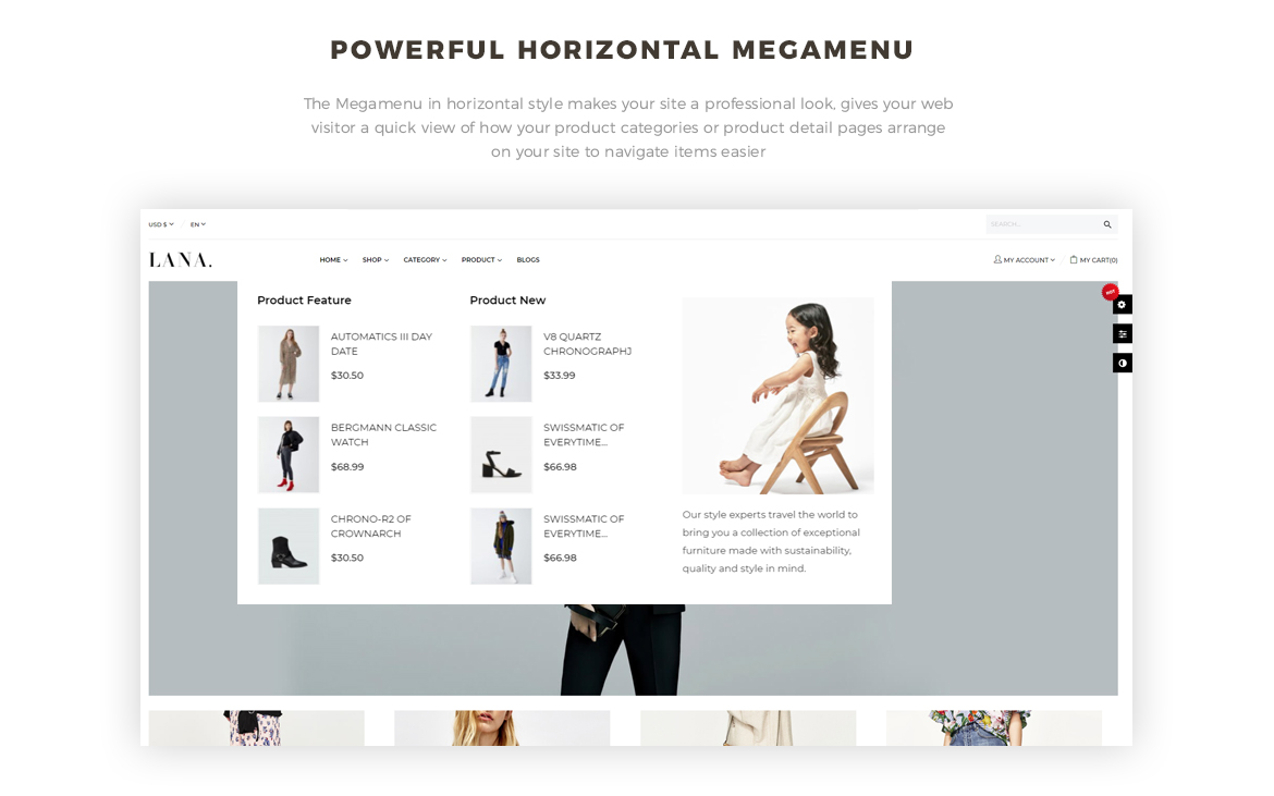 powerful mega menu-Leo Lana - fashion prestashop theme