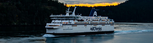 WCFF Submission -- Spirit of British Columbia Rounding Active Pass in An Overcast Dawn