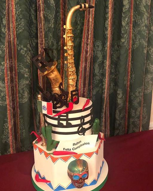 Saxophone Cake by Van Earl's Cakes