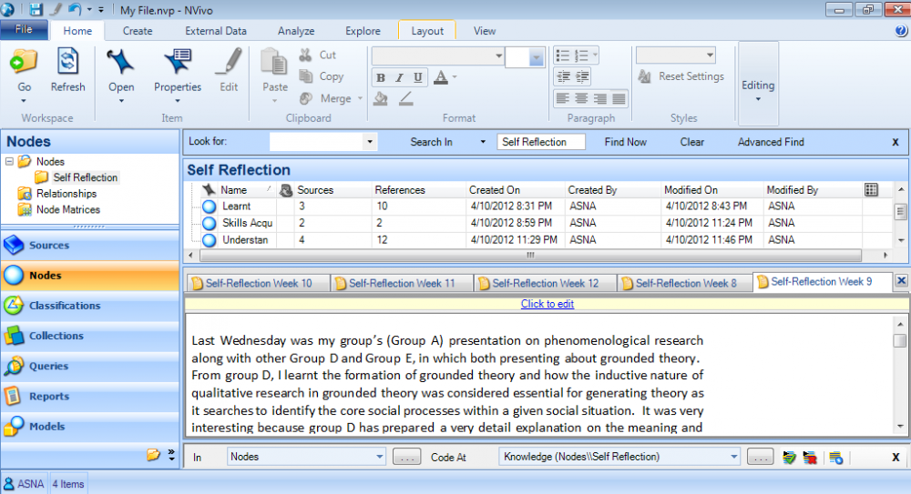 Working with QSR NVivo 7 full license