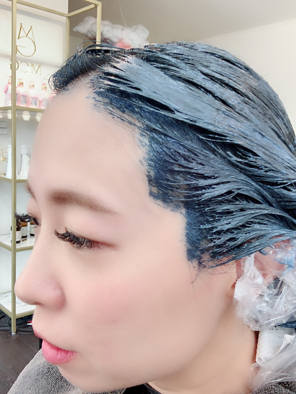 2018.10霧面藍綠色染髮
