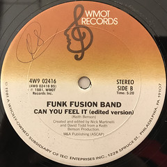 FUNK FUSION BAND:CAN YOU FEEL IT(LABEL SIDE-B)
