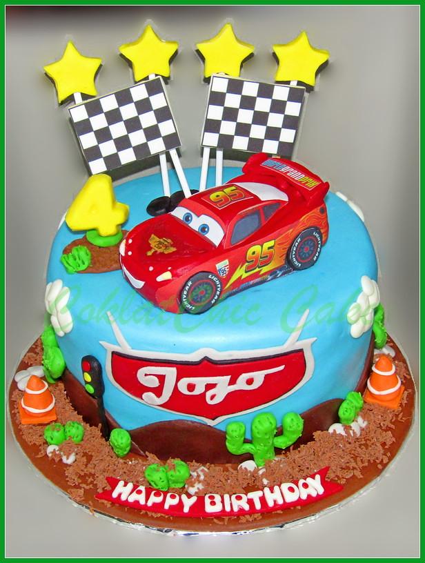 Cake Disney Cars Lightning McQueen Jojo 20 cm