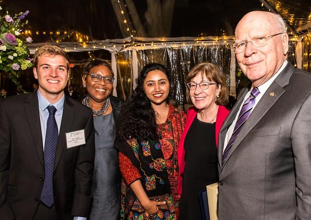 Senators Leahy and Collins, Cynthia Bunton, ISH Resident Scholars